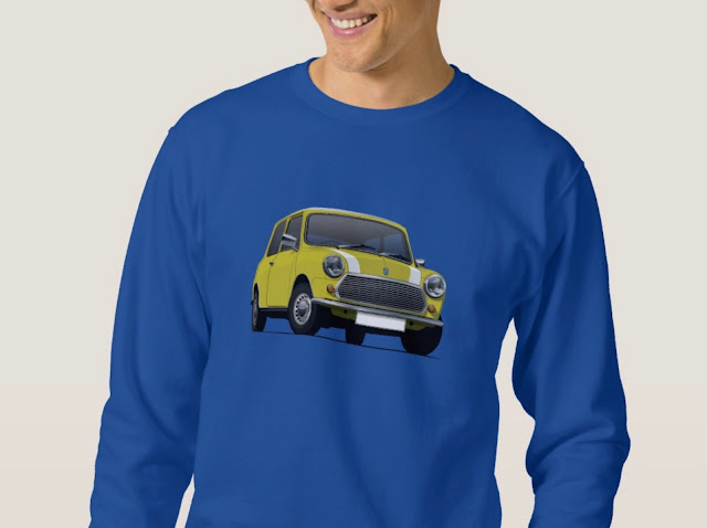 Yellow Austin Mini - Morris Mini - Shirt