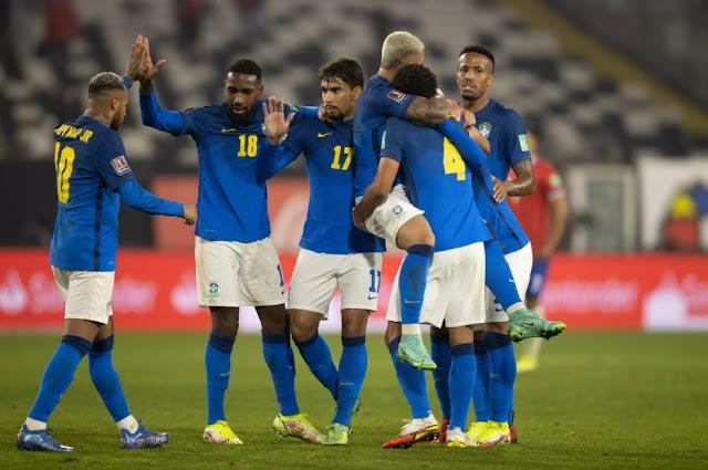Brasil faz 1 a 0 sobre o Chile, sétima vitória seguida nas eliminatórias da copa