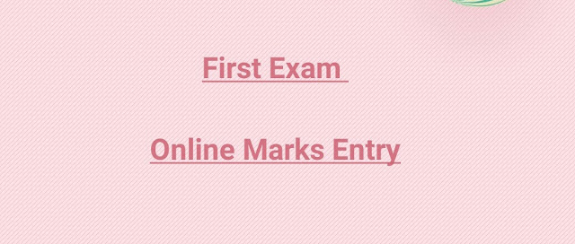 FIRST EXAM ONLINE MARKS ENTRY