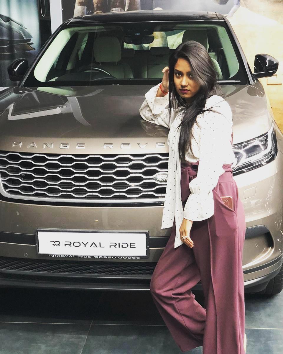 Aditi Khatri Model Actress Royal Ride