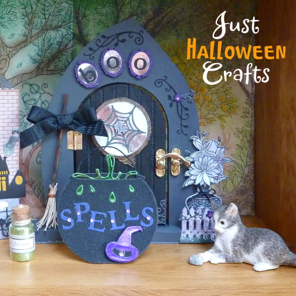 Witch house home Halloween fairy door craft DIY tutorial photos crafting altered art