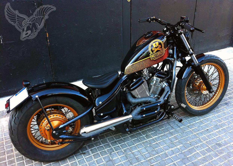 1995 vt600 bobber | free kustom cycles - bikerMetric