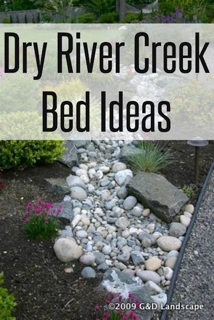 Inspiration Ideas on how to control water runoff and how to create a dry river creek bed.