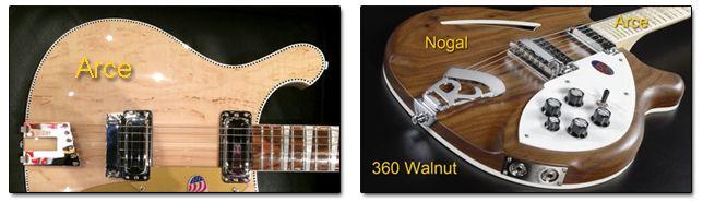 Tipos de Maderas en las Guitarras Rickenbacker