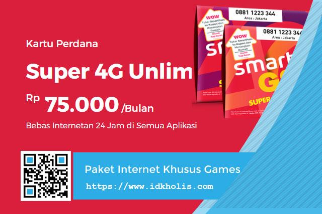 Paket Internet Khusus Games