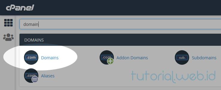 Cara Mengatasi 403 Forbidden 1.Pilih Domains