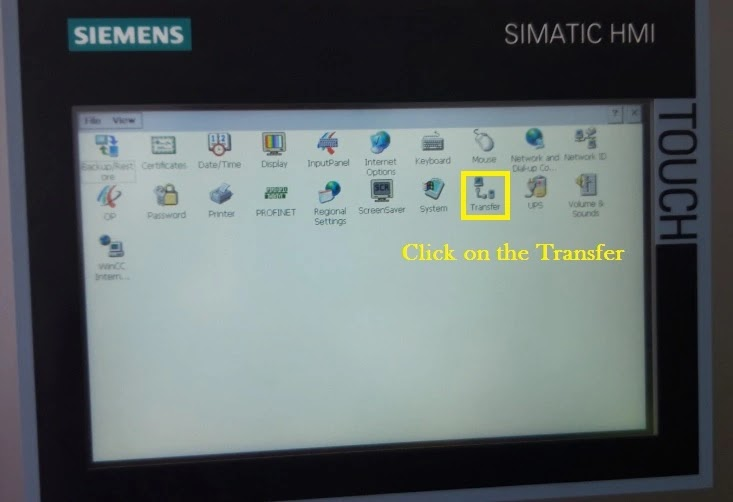 set up the Transfer Comfort panel TP700