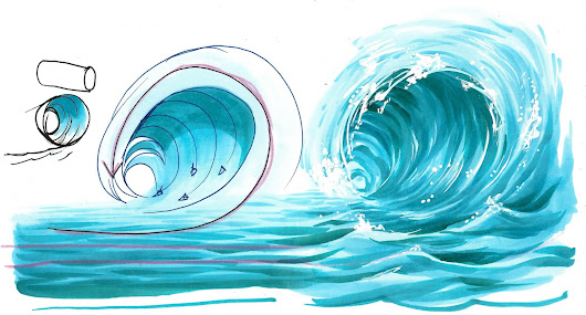 4 Tutorial: Acqua parte 1- come colorare il mare e le onde