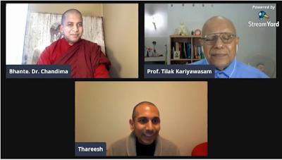 Prof. Tilak Kariyawasam talks to Paṭisota's Bhante Dr. Gangodawila Chandima Live