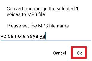 cara menyimpan voice note whatsapp ke galeri