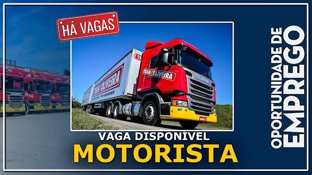 Trans Oliveira abre processo seletivo para Motorista