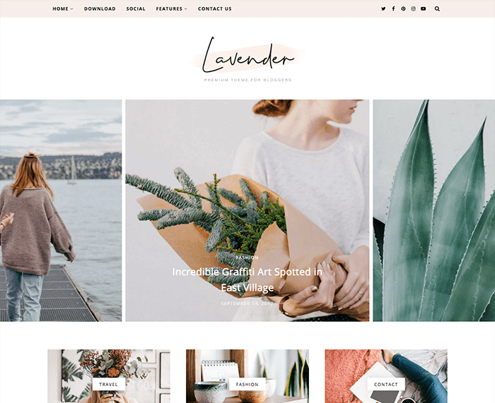 Lavender Personal Blogger Template