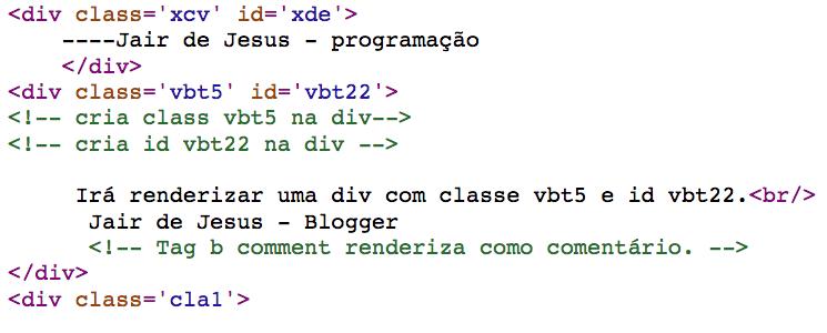 Foto de códigos de saída Blogger b class e  attr.