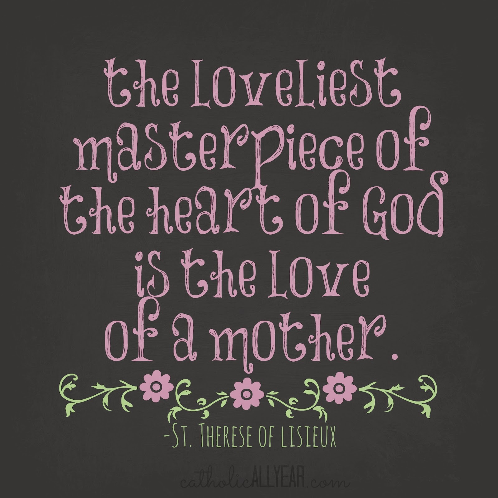 Mother Of God Movie Quote: Catholic All Year: Mother's Day Printables And A Five