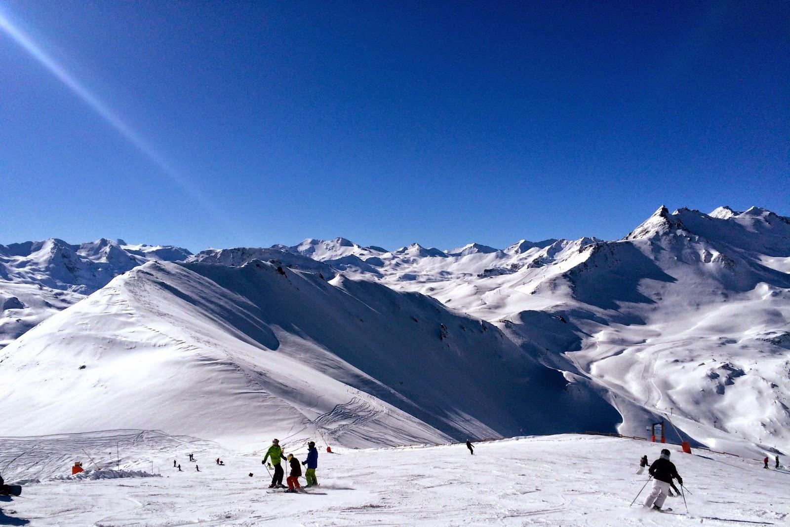 snow sun ski val d'isere