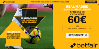 betfair supercuota Real Madrid gana a Salzburg 7 agosto 2019