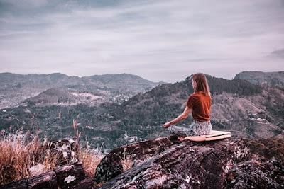 Relaxing breathing meditation