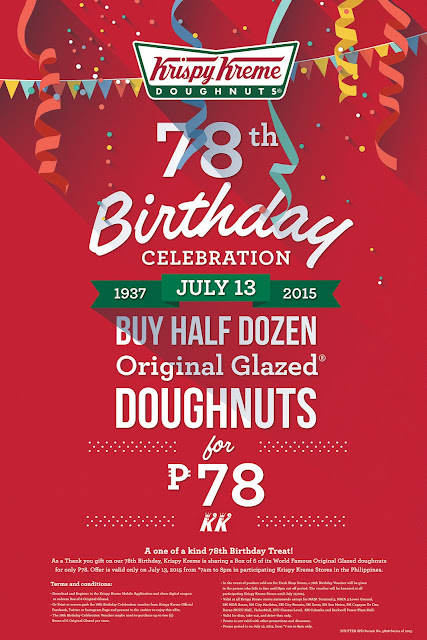 78th Birthday Celebration of Krispy Kreme