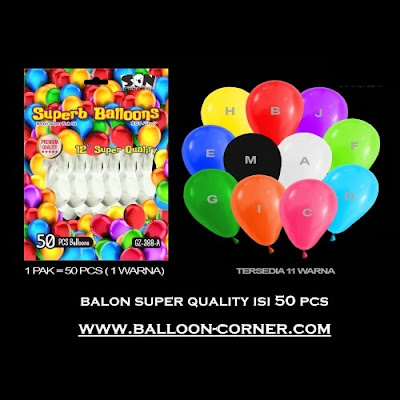 Balon Latex Doff 12 Inchi (Isi 50 Pcs / Pack)