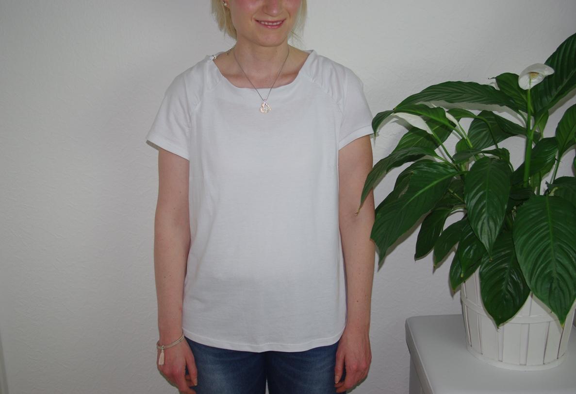 Upcycling Herzstück von FinasIdeen Shirt aus Jersey für Frauen nähen