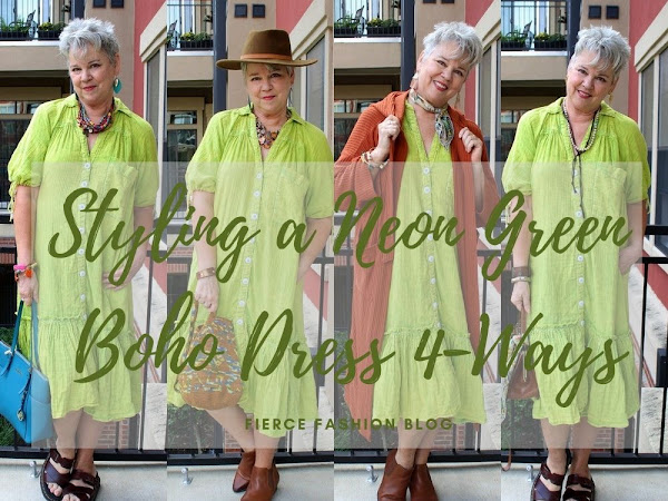 Styling a Neon Green Boho Dress 4 Ways