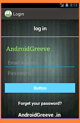 Android Login Page Design for beginner