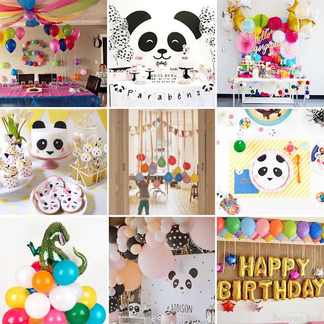 4 ANS : Un anniversaire panda / ballons et coeurs !