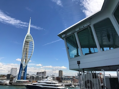 Spinnaker Tower in Portsmouth viewed from Wightlink ferry