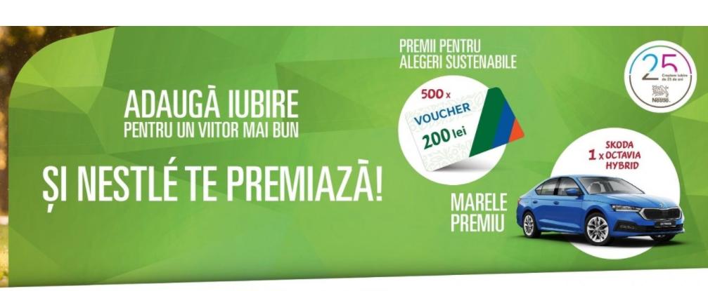 Concurs Nestlé - Castiga o masina Skoda Octavia Hybrid - 2021 - castiga.net
