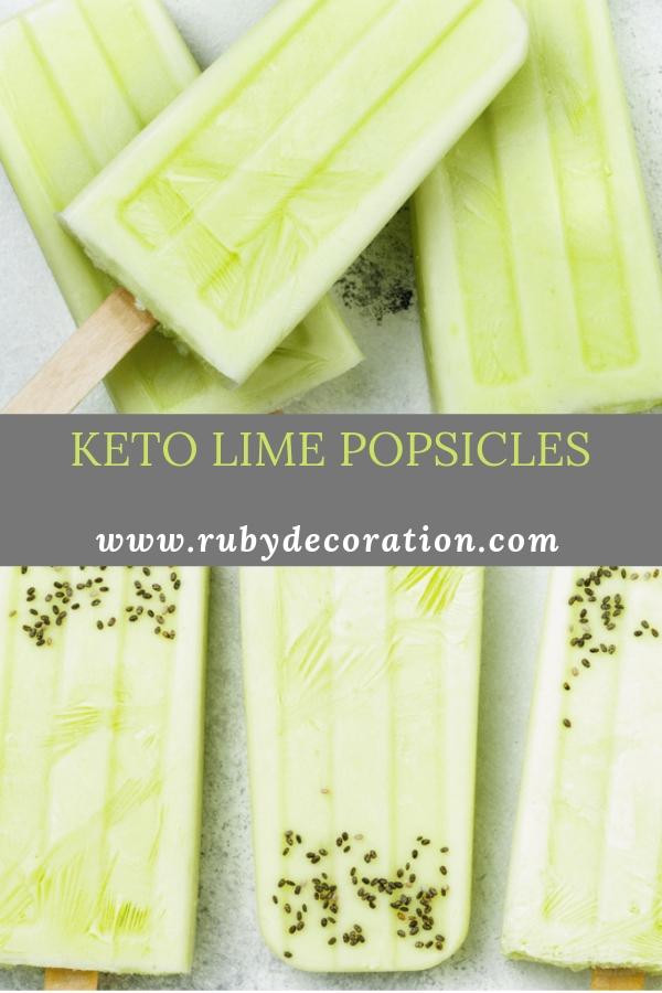 KETO LIME POPSICLES