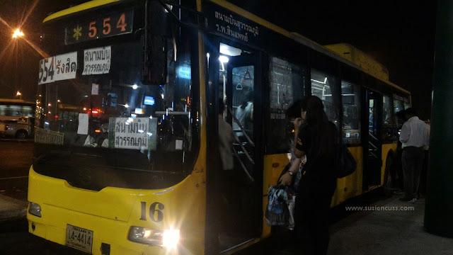 bus 554 dari Suvarnabhumi ke Don Mueang