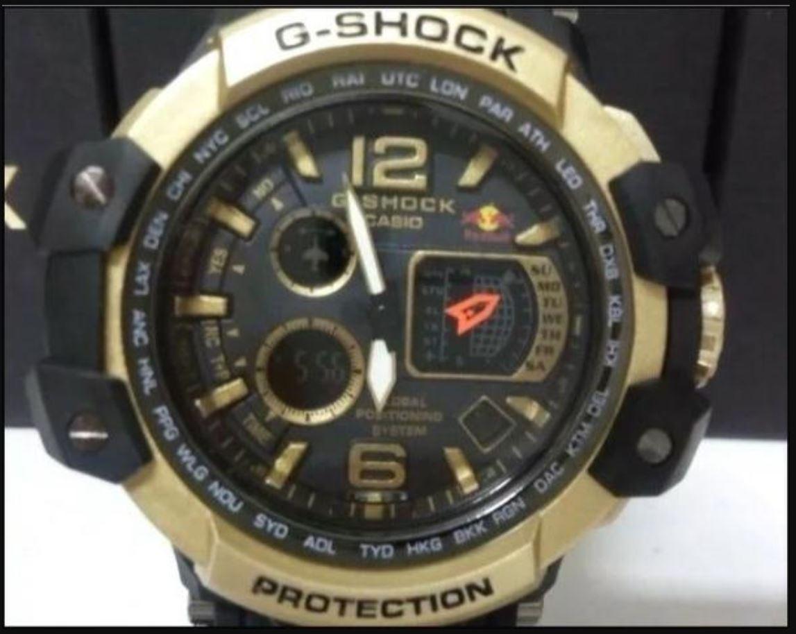 7a9ce790fc1 Manaus Blue Eletrônicos   Relógio Casio G-shock Red Bull Dourado ...