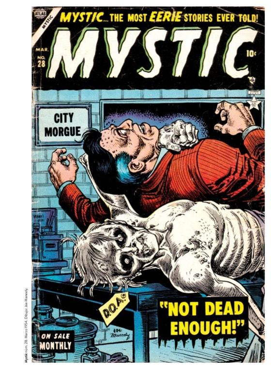 Mystic #28, marzo 1954, portada de Joe Maneely