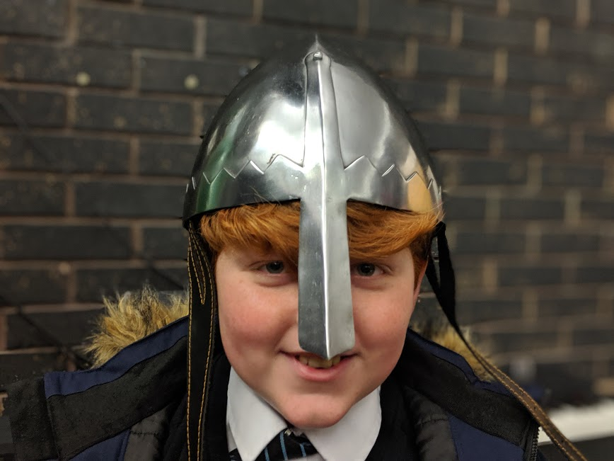 A Viking Christmas Review & Top Tips  - Viking helmet props