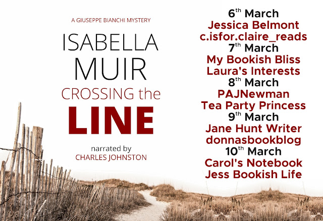 Crossing The Line by Isabella Muir blog tour banner