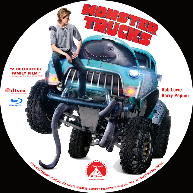 Label Bluray Monster Trucks