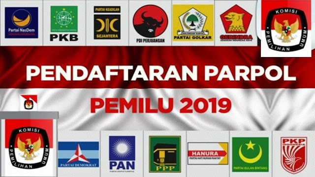 Inilah koalisi Partai di Pilpres 2019 PDI P, Gerindra dan Poros ketiga