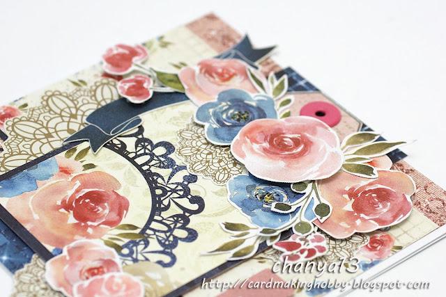 kwiaty z papieru do scrapbookingu