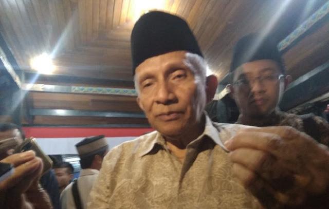 Amien Rais: Kabinet Indonesia Maju Tidak Perlu Buru-buru Dikritik