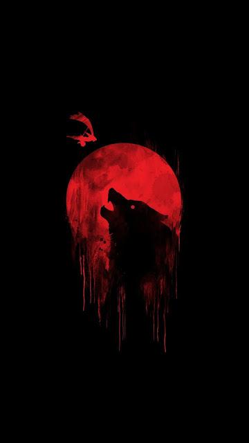 Lobo E Lua Papel De Parede Para Celular