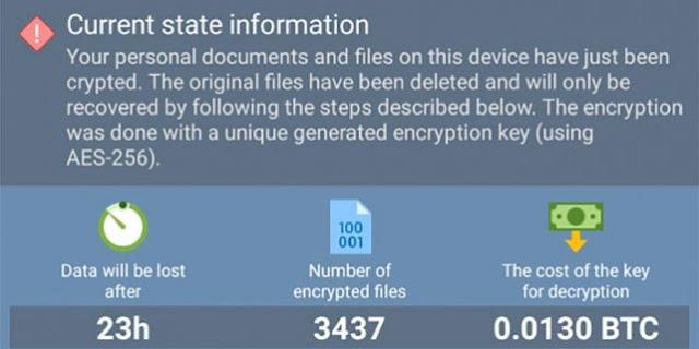 DoubleLocker, un nuevo virus que codifica ficheros y cambia tus passwords