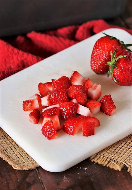 Diced Strawberries to Make Fresh Strawberry Bread Image