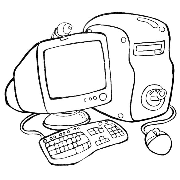 computer coloring pages for kids-#28