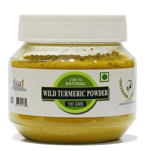 RT Fresh Wild Turmeric Powder/Kasthuri Manjal Powder/Kasthuri Haldi Powder/Curcuma Aromatica/Jangli Haldi For Skin Glowing (100 Gram)