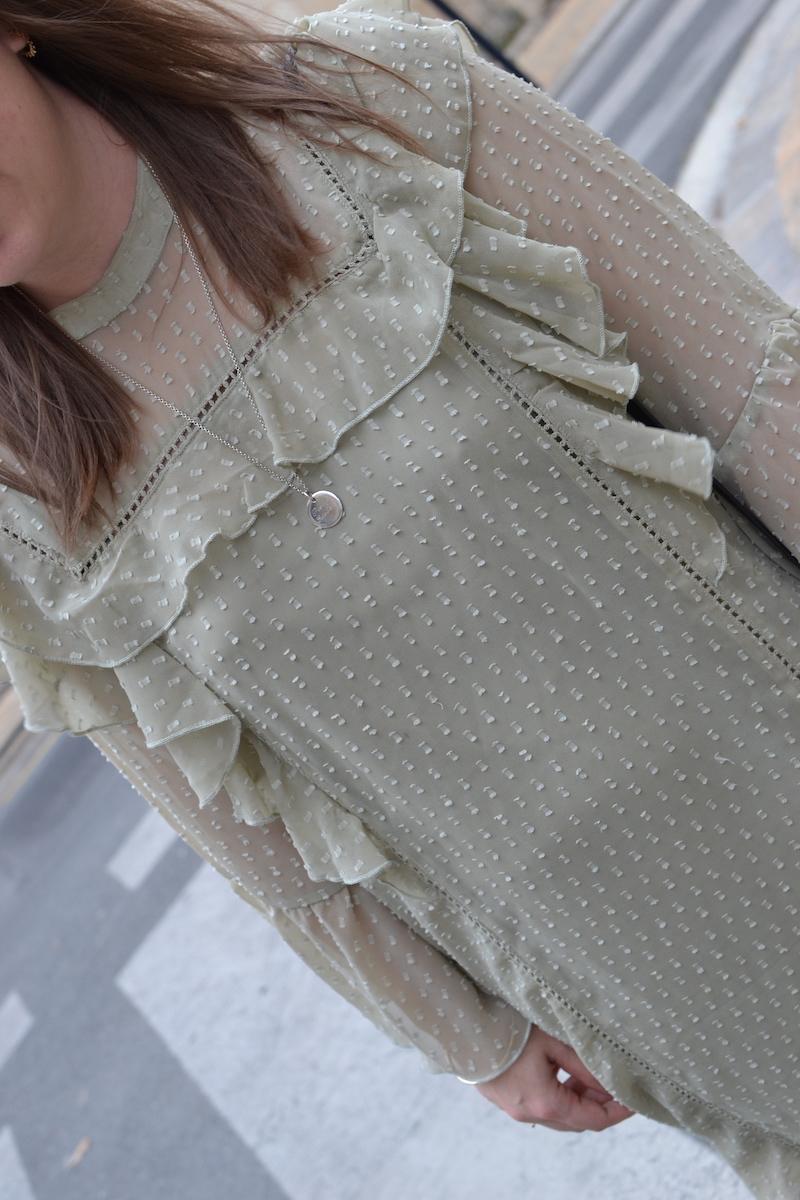 robe froufrou vert d'eau Missguided