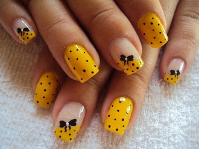 Stylish-and-Cute-Nail-Designs-with-Bows-and-Diamonds-for-Girls-16
