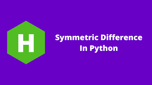 HackerRank Symmetric Difference in python problem solution