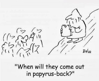 Funny Moses Cartoon Picture - When will they come out in papyrus back?