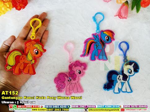 Gantungan Kunci Kuda Pony Warna Warni