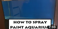 How To Spray Paint Aquarium Glass